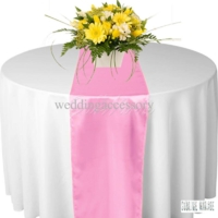 Chemin de table satin Rose pale - NSE Location  2.00€