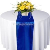 Chemin de table satin Bleu royal - NSE Location  2.00€