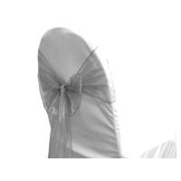 Noeud de chaise en organza gris argent - NSE Location  0,50€