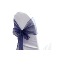 Location Noeud de chaise organza Bleu marine - 0,50€