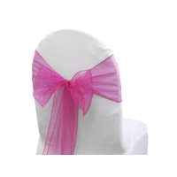 Noeud de chaise Organza Fushia - NSE Location  0,50€
