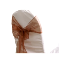Noeud de chaise organza chocolat - NSE Location 0,50€