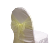 Noeud de chaise Organza Jaune - NSE Location  0,50€