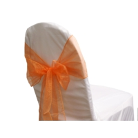 Noeud de chaise organza Orange - NSE Location  0,50€