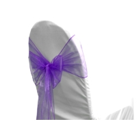 Noeud de chaise organza Pourpre - NSE Location 0,50€