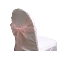 Noeud de chaise Organza Rose pale - NSE Location  0,50€