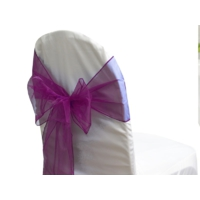Noeud de chaise organza Aubergine - NSE Location  0,50€
