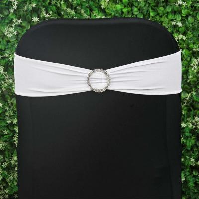 Bandeau lycra blanc avec boucle NSE Location  0,80€