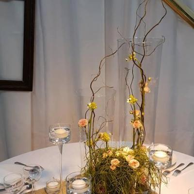 Centres de tables, Vases, Miroirs, Rondins