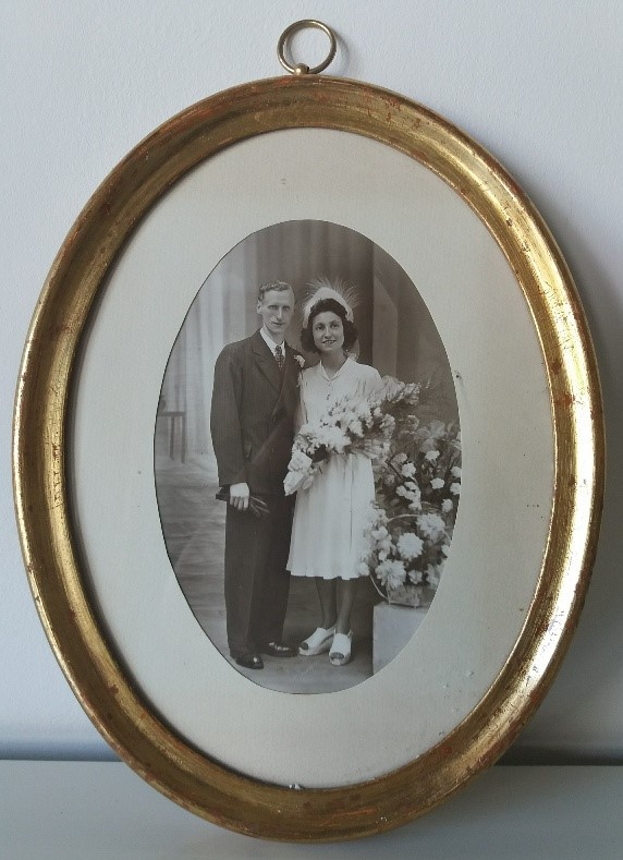 Cadre mariage vintage