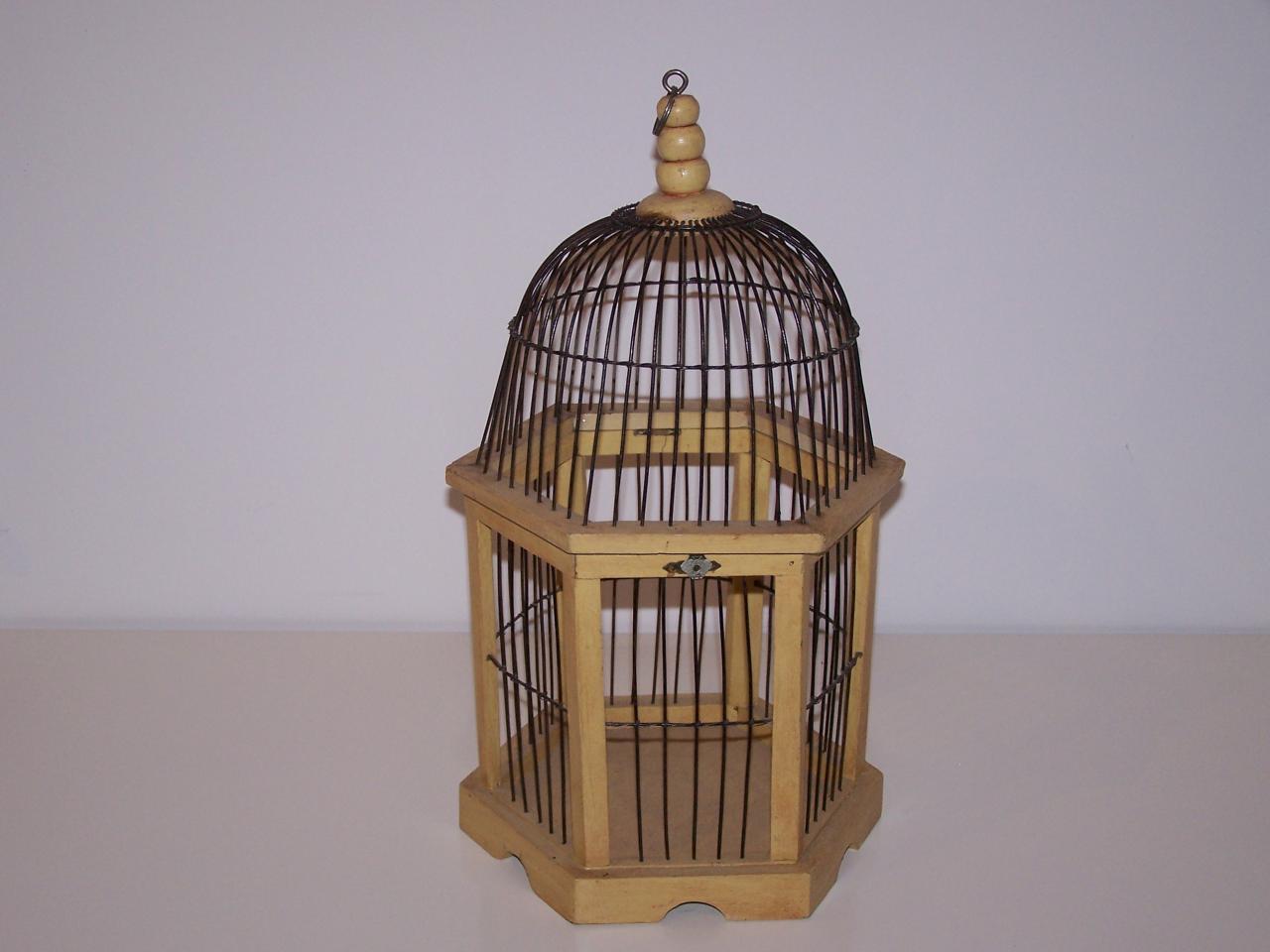 Cage bois naturel et fer noir NSE Location  5.00€