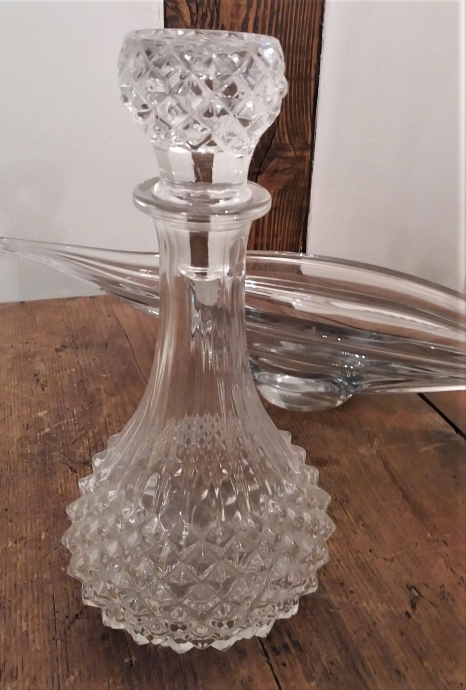 Carafe cristal avec bouchon
