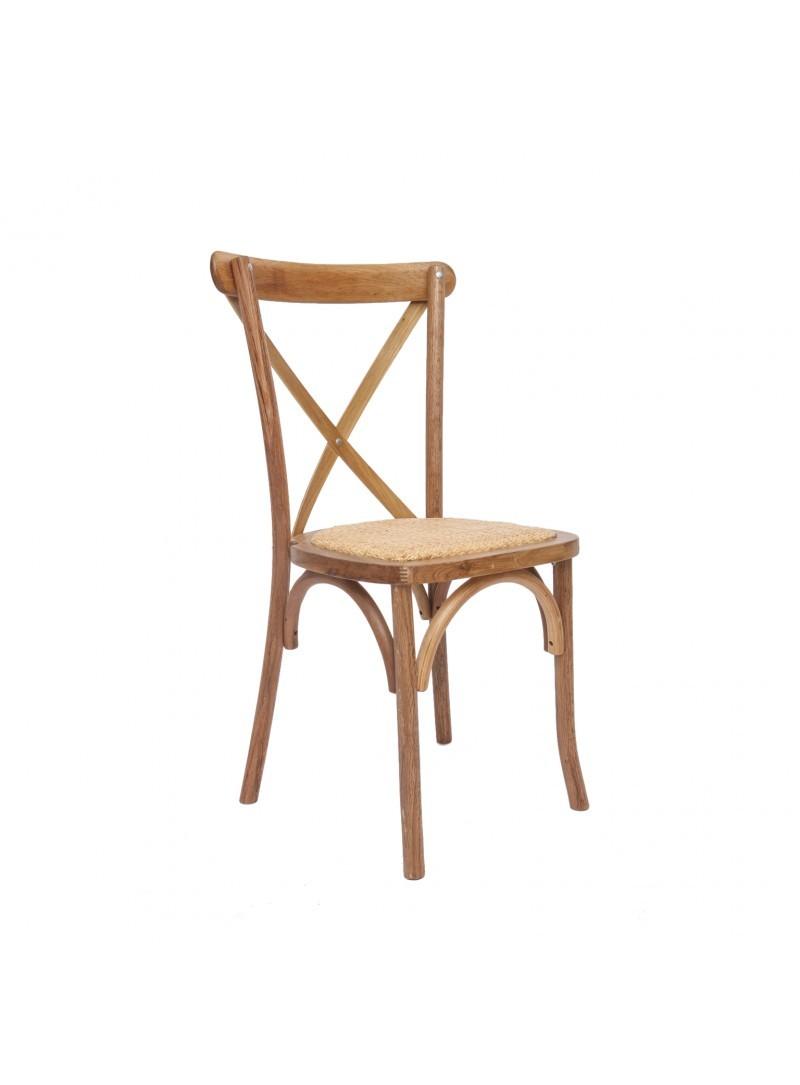 Chaise bois dos croisé St Remy