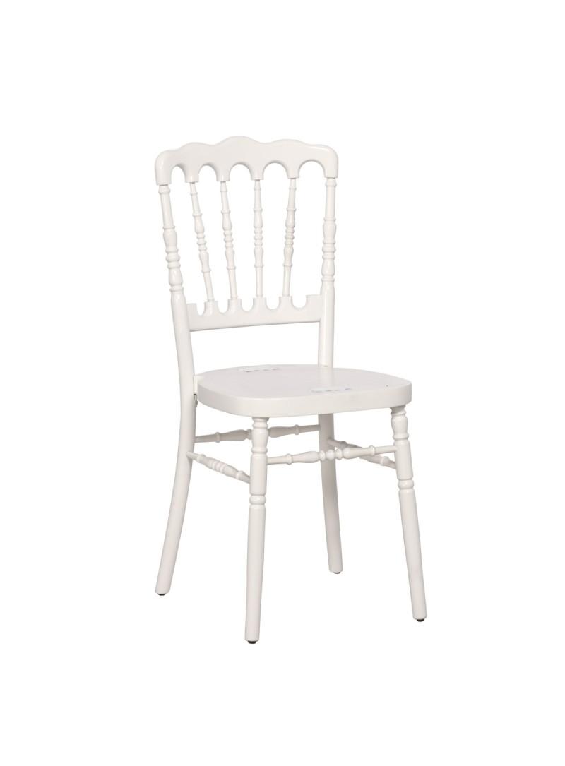 Chaise Napoléon bois blanc -  Location  7.00€
