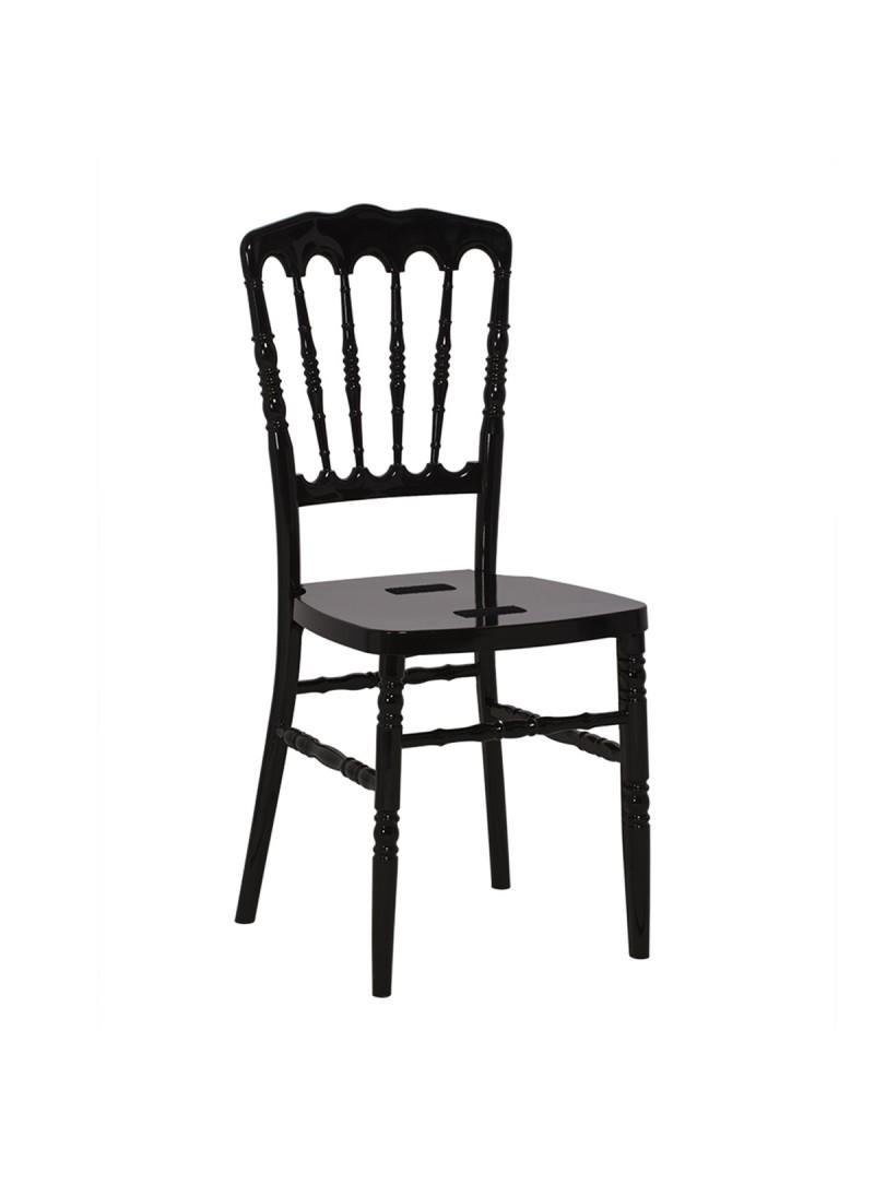 Location Chaise Napoléon résine noire - 8.00€