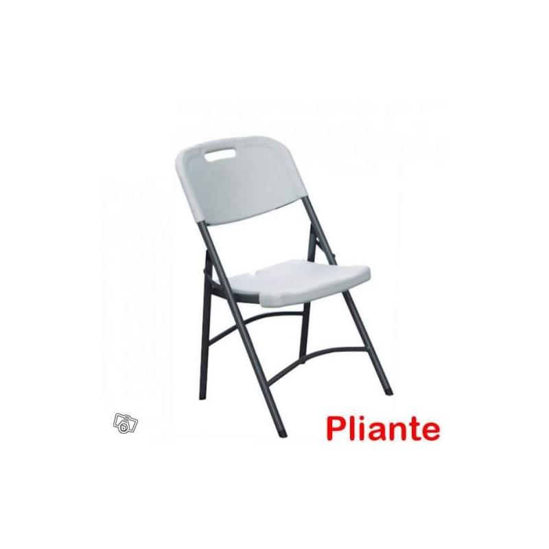 Chaise pliante blanche - NSE Location 2.50€