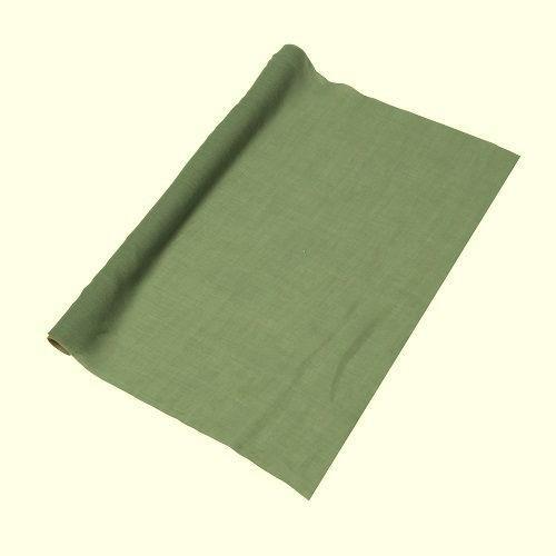 Chemin de table mousseline vert de gris - 5Mx48CM