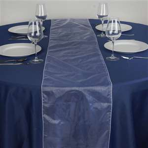Chemin de table organza blanc - Location 2.00€ - Tarif weekend
