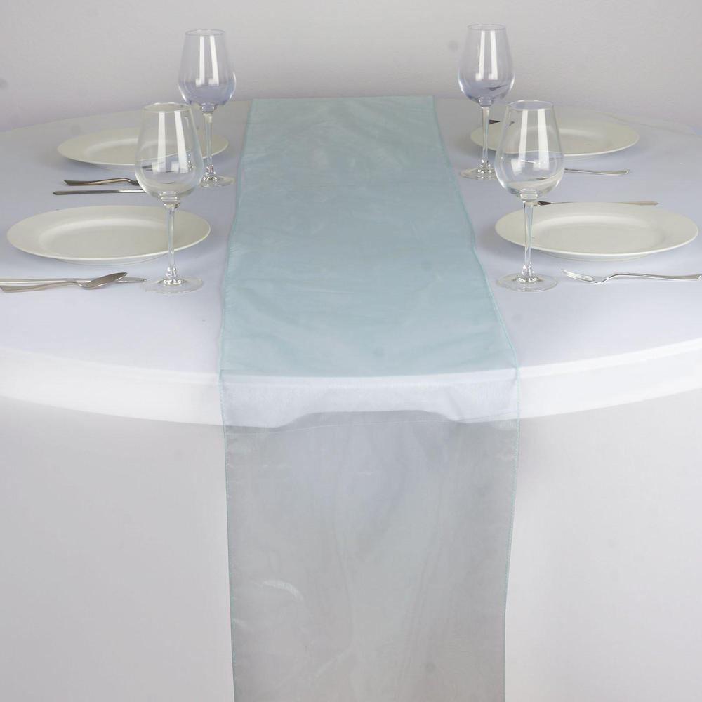 Chemin de table organza bleu clair - NSE Location  2,00€