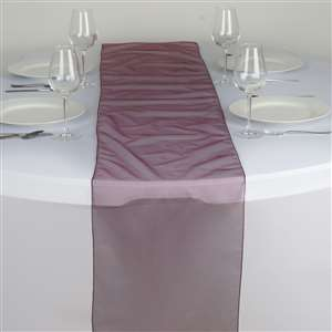 Chemin de table organza bordeaux - NSE Location  2.00€