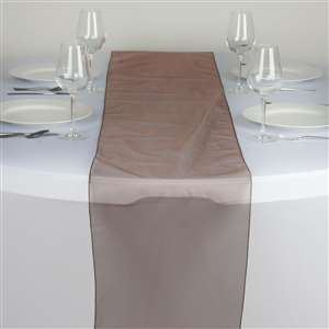 Chemin de table organza chocolat - NSE Location  2.00€
