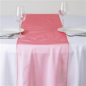 Chemin de table organza corail - NSE Location  2.00€