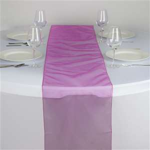 Chemin de table organza fushia - NSE Location  2.00€