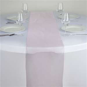 Chemin de table organza rose pale - NSE Location  2.00€