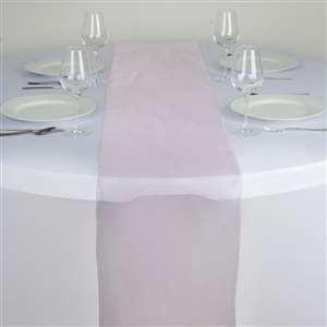 Chemin de table organza rose pale - NSE Location  2.00€