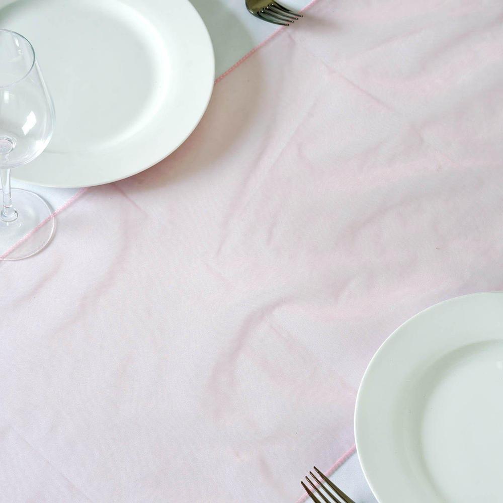 Chemin de table organza rose quartz - NSE Location  2,00€