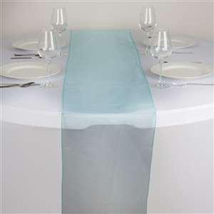 Chemin de table organza turquoise - NSE Location  2.00€