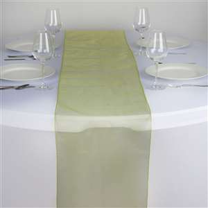 Chemin de table organza vert anis - NSE Location  2.00€