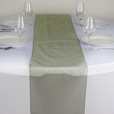Chemin de table organza vert saule - NSE Location  2,00€