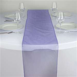 Chemin de table organza violet - NSE Location  2.00€