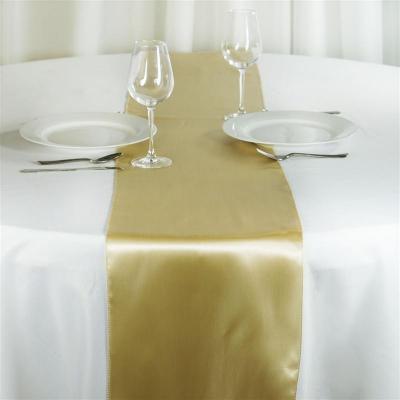 Chemin de table satin champagne - NSE Location