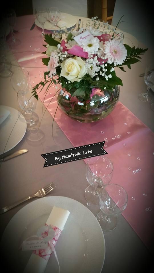 Chemin de table satin rose NSE