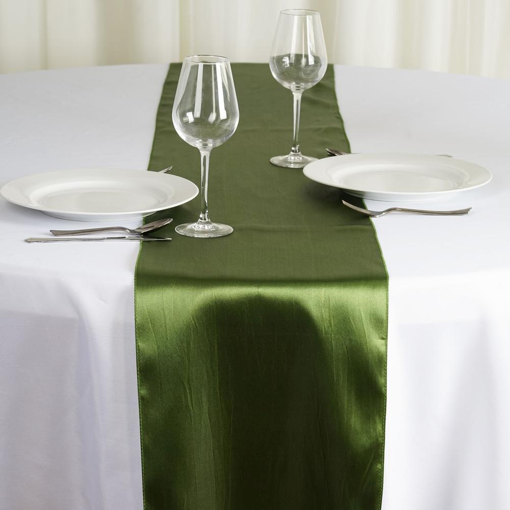Chemin de table satin vert saule - NSE Location  2,00€