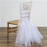 Dossier de chaise tulle blanc NSE Location  7.00€