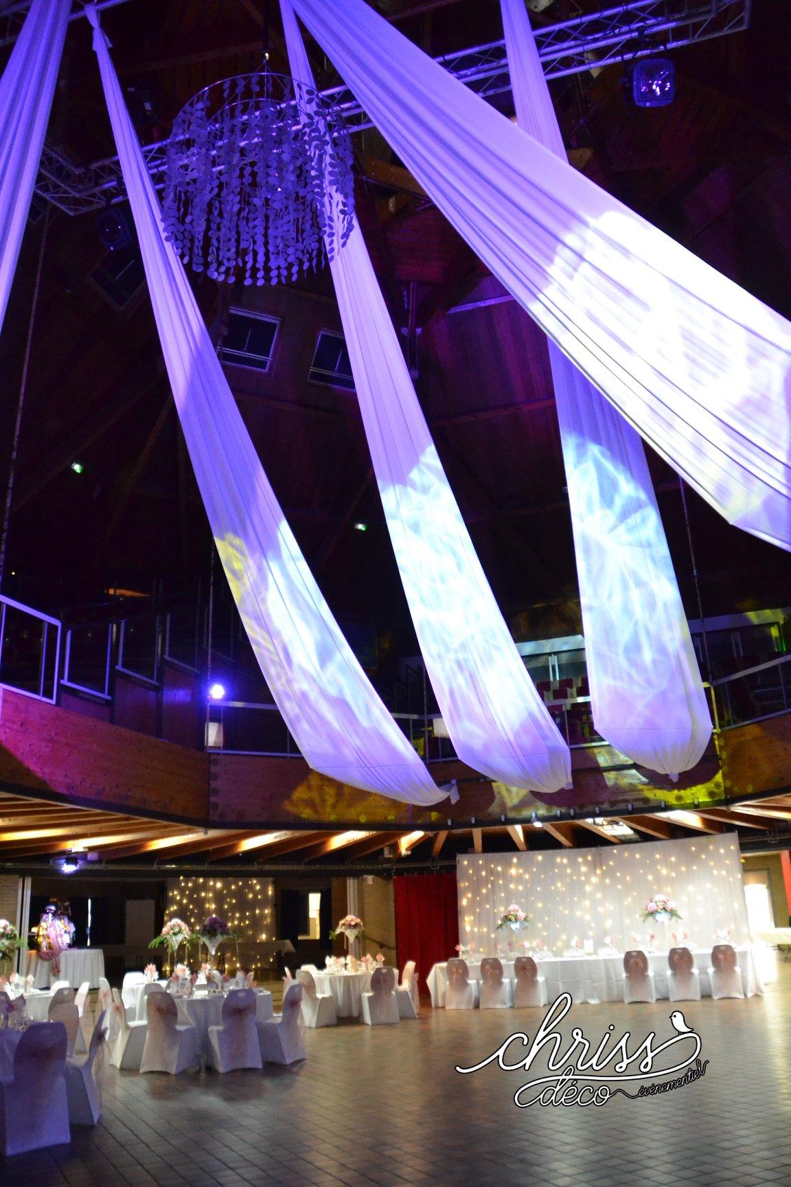 Inspiration drapé plafond lycra blanc