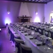 Eclairage d ambiance salle de mariage