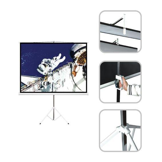 Ecran transportable 2Mx2M  Gain 1.0 Angle de vue 160°  Location  25.00€