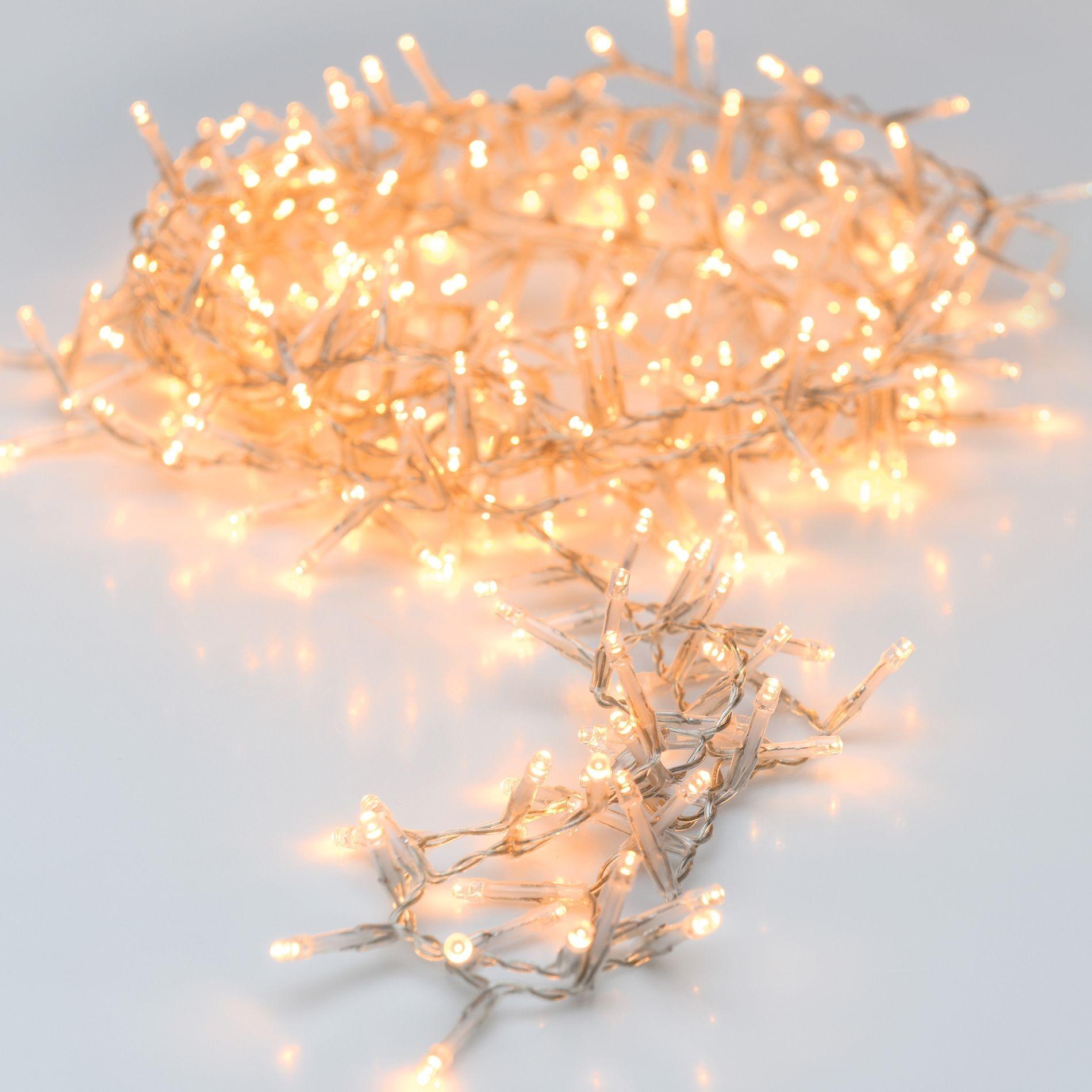 Guirlande lumineuse 24 m blanc chaud 1200 leds