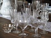 Flute à champagne vintage dépareillée