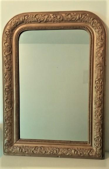 Location miroir encadrement or