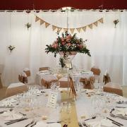 Location rideaux blanc pour déco mariage