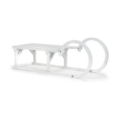Luge en bois blanc - Dimensions 94.5x34x24