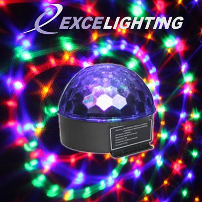 Magic ball - Effet multifaisceaux à LED RGBWAP 6x1W - Mode musique