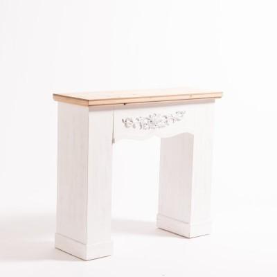Manteau de cheminée blanc - Dimensions 90x30x80cm
