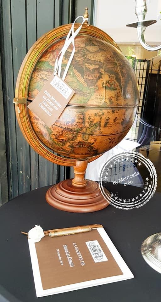 Location Mappemonde globe terrestre - 10.00€ weekend