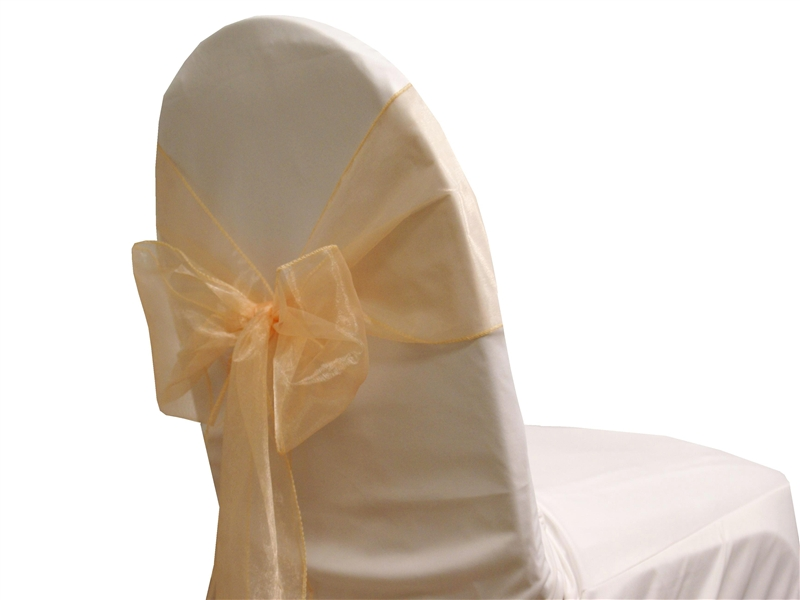 Noeud de chaise organza peche NSE Location  0,50€